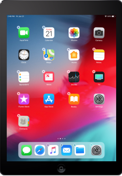 The image displays an iOS home screen.