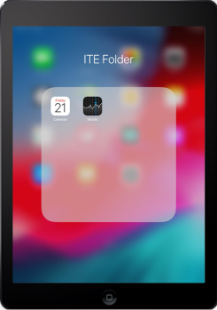 The ITE folder is opened with two apps.