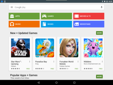 The image shows the Google play store.