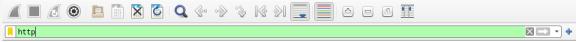 screenshot of applied http filter