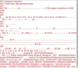 screenshot of transcript for alert id 5.411