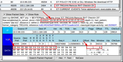 screenshot of the show rule panel of alert id 5.451