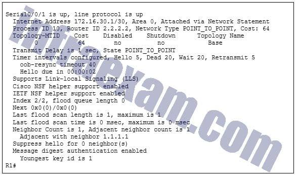 CCNA3 v7 – ENSA – Modules 1 – 2 OSPF Concepts and Configuration Exam Answers 07